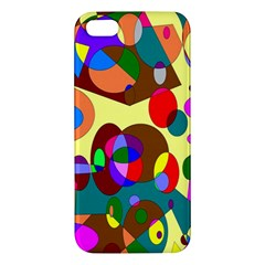 Abstract Digital Circle Computer Graphic iPhone 5S/ SE Premium Hardshell Case