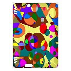 Abstract Digital Circle Computer Graphic Kindle Fire Hdx Hardshell Case