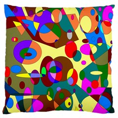 Abstract Digital Circle Computer Graphic Large Flano Cushion Case (two Sides)