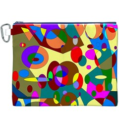 Abstract Digital Circle Computer Graphic Canvas Cosmetic Bag (xxxl)