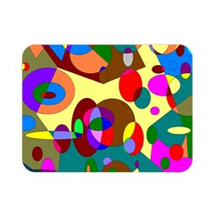 Abstract Digital Circle Computer Graphic Double Sided Flano Blanket (Mini)