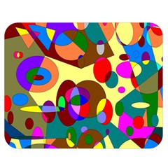 Abstract Digital Circle Computer Graphic Double Sided Flano Blanket (medium)