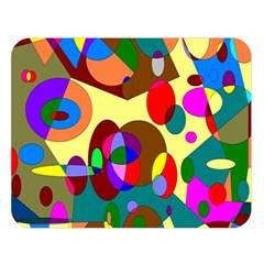 Abstract Digital Circle Computer Graphic Double Sided Flano Blanket (Large)