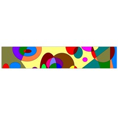 Abstract Digital Circle Computer Graphic Flano Scarf (Large)