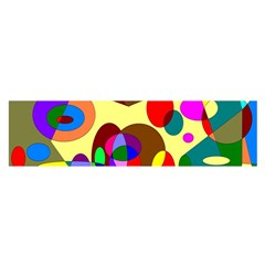 Abstract Digital Circle Computer Graphic Satin Scarf (oblong)