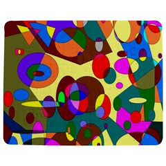 Abstract Digital Circle Computer Graphic Jigsaw Puzzle Photo Stand (Rectangular)