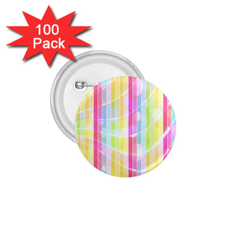 Abstract Stipes Colorful Background Circles And Waves Wallpaper 1.75  Buttons (100 pack)