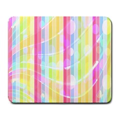 Abstract Stipes Colorful Background Circles And Waves Wallpaper Large Mousepads