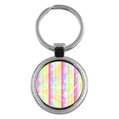 Abstract Stipes Colorful Background Circles And Waves Wallpaper Key Chains (round)