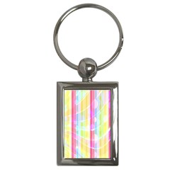 Abstract Stipes Colorful Background Circles And Waves Wallpaper Key Chains (rectangle)