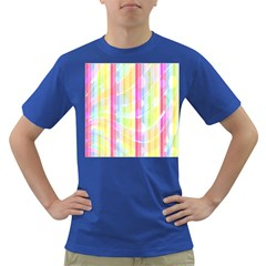 Abstract Stipes Colorful Background Circles And Waves Wallpaper Dark T-Shirt