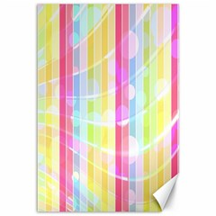 Abstract Stipes Colorful Background Circles And Waves Wallpaper Canvas 12  x 18