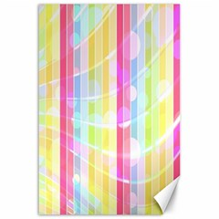 Abstract Stipes Colorful Background Circles And Waves Wallpaper Canvas 24  X 36