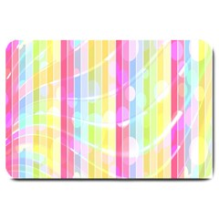 Abstract Stipes Colorful Background Circles And Waves Wallpaper Large Doormat