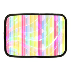 Abstract Stipes Colorful Background Circles And Waves Wallpaper Netbook Case (medium)