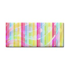 Abstract Stipes Colorful Background Circles And Waves Wallpaper Cosmetic Storage Cases