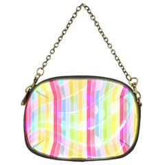 Abstract Stipes Colorful Background Circles And Waves Wallpaper Chain Purses (Two Sides)