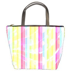 Abstract Stipes Colorful Background Circles And Waves Wallpaper Bucket Bags