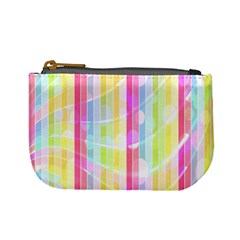 Abstract Stipes Colorful Background Circles And Waves Wallpaper Mini Coin Purses