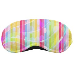 Abstract Stipes Colorful Background Circles And Waves Wallpaper Sleeping Masks
