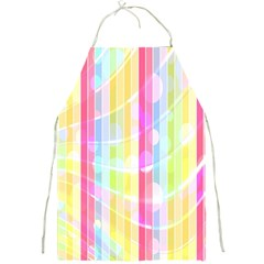 Abstract Stipes Colorful Background Circles And Waves Wallpaper Full Print Aprons