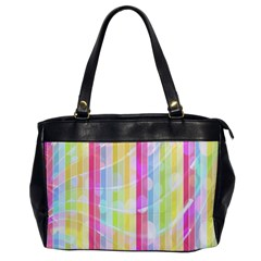 Abstract Stipes Colorful Background Circles And Waves Wallpaper Office Handbags