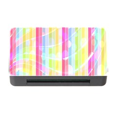 Abstract Stipes Colorful Background Circles And Waves Wallpaper Memory Card Reader with CF