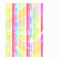 Abstract Stipes Colorful Background Circles And Waves Wallpaper Small Garden Flag (two Sides)
