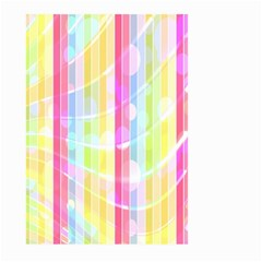Abstract Stipes Colorful Background Circles And Waves Wallpaper Large Garden Flag (two Sides)