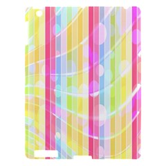Abstract Stipes Colorful Background Circles And Waves Wallpaper Apple iPad 3/4 Hardshell Case