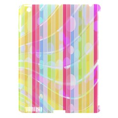 Abstract Stipes Colorful Background Circles And Waves Wallpaper Apple Ipad 3/4 Hardshell Case (compatible With Smart Cover)
