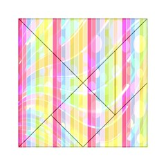 Abstract Stipes Colorful Background Circles And Waves Wallpaper Acrylic Tangram Puzzle (6  x 6 )