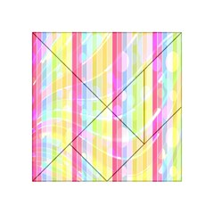 Abstract Stipes Colorful Background Circles And Waves Wallpaper Acrylic Tangram Puzzle (4  X 4 )