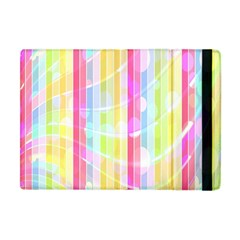 Abstract Stipes Colorful Background Circles And Waves Wallpaper Apple Ipad Mini Flip Case