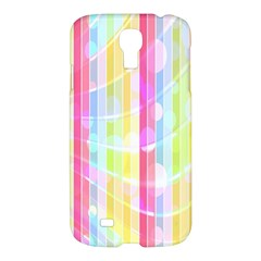 Abstract Stipes Colorful Background Circles And Waves Wallpaper Samsung Galaxy S4 I9500/I9505 Hardshell Case