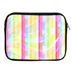 Abstract Stipes Colorful Background Circles And Waves Wallpaper Apple Ipad 2/3/4 Zipper Cases