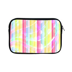 Abstract Stipes Colorful Background Circles And Waves Wallpaper Apple iPad Mini Zipper Cases
