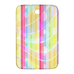 Abstract Stipes Colorful Background Circles And Waves Wallpaper Samsung Galaxy Note 8 0 N5100 Hardshell Case