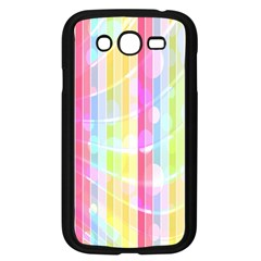 Abstract Stipes Colorful Background Circles And Waves Wallpaper Samsung Galaxy Grand Duos I9082 Case (black)