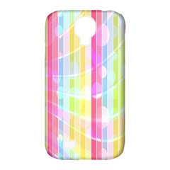 Abstract Stipes Colorful Background Circles And Waves Wallpaper Samsung Galaxy S4 Classic Hardshell Case (pc+silicone)