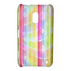 Abstract Stipes Colorful Background Circles And Waves Wallpaper Nokia Lumia 620