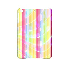 Abstract Stipes Colorful Background Circles And Waves Wallpaper Ipad Mini 2 Hardshell Cases