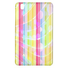 Abstract Stipes Colorful Background Circles And Waves Wallpaper Samsung Galaxy Tab Pro 8 4 Hardshell Case