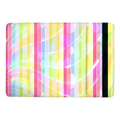 Abstract Stipes Colorful Background Circles And Waves Wallpaper Samsung Galaxy Tab Pro 10 1  Flip Case
