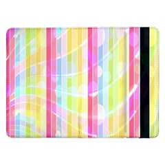 Abstract Stipes Colorful Background Circles And Waves Wallpaper Samsung Galaxy Tab Pro 12.2  Flip Case