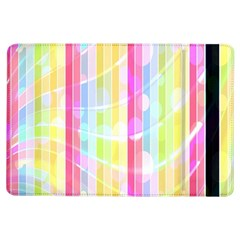 Abstract Stipes Colorful Background Circles And Waves Wallpaper iPad Air Flip
