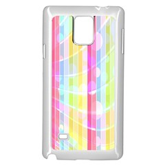 Abstract Stipes Colorful Background Circles And Waves Wallpaper Samsung Galaxy Note 4 Case (white)