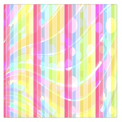 Abstract Stipes Colorful Background Circles And Waves Wallpaper Large Satin Scarf (Square)