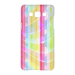Abstract Stipes Colorful Background Circles And Waves Wallpaper Samsung Galaxy A5 Hardshell Case
