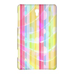 Abstract Stipes Colorful Background Circles And Waves Wallpaper Samsung Galaxy Tab S (8 4 ) Hardshell Case